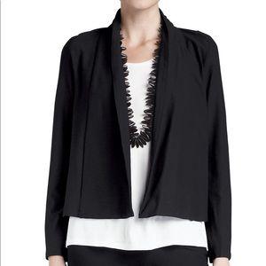 Eileen Fisher Black Long Sleeve Blazer Jacket Chic